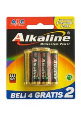 Battery Alkaline Aaa/Lr-03/4'S