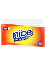 Nice,Facial Tissue Non Perfumed 2 Ply 1000G Bag
