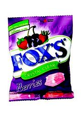 Fox's,Candy Crystal Clear Berries 90G Pck
