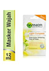 Garnier,Lightening Peel-Off Mask Pure Lemon 2X6ml Sct