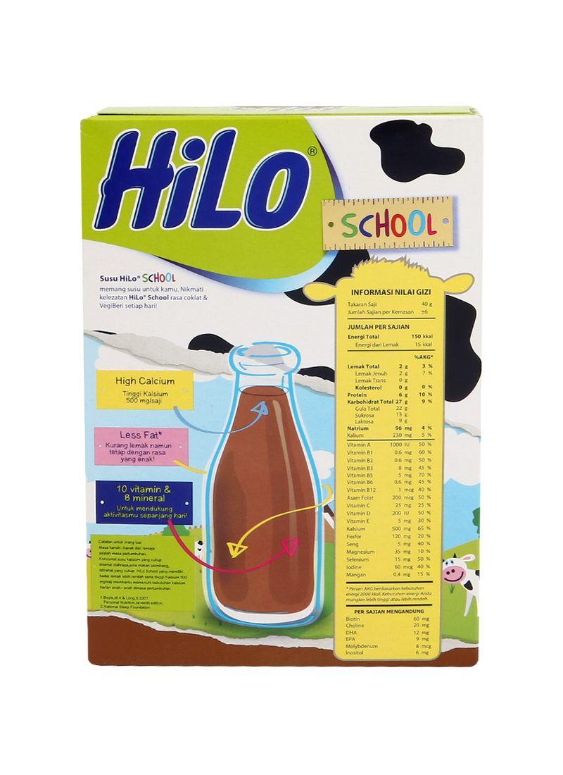 Hilo School Susu Bubuk Hi Calcium Chocolate Box 250G