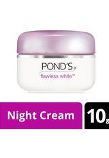 Ponds,Pelembab Wajah Flawless White Night Cream 10G Pot